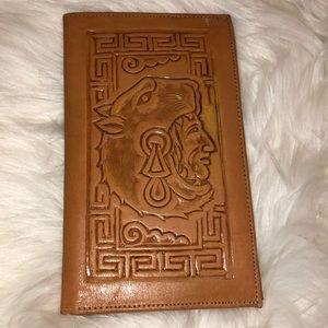 Leather embossed wallet Good Condition